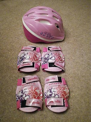 girls helmet and pad set - elbow and knee