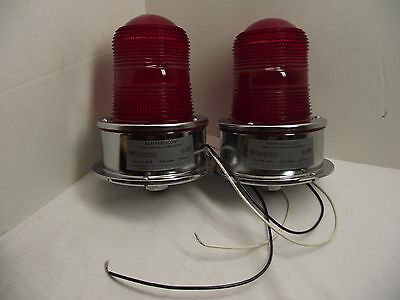 Lot of 2 ADAPTBEACON Signal Appliance Lamp Assembly's 120v 60hz Cat #50-R NR