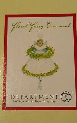 NEW Factory Sealed Krinkles Patience Brewster Floral Fairy Ornament Dept 56