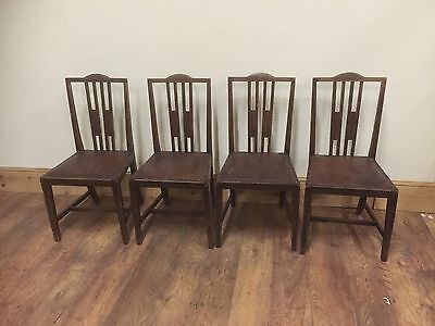 Set of 4 Possible Arts and Crafts Oak dining chairs