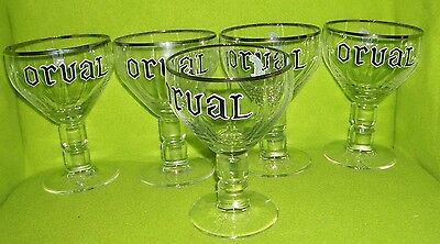 Orval Trappist Beer Glasses Mugs Set Of 5