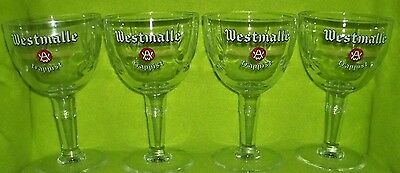 Westmalle Trappist Beer Glasses Mugs Set Of 4