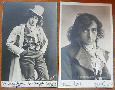 2 x Vintage Postcards of Mr Martin Harvey- Actor