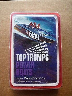 Vintage Top Trumps Cards Power Boats