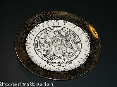 American Oil Company Francis Scott Key Start Spangled Banner collector's plate