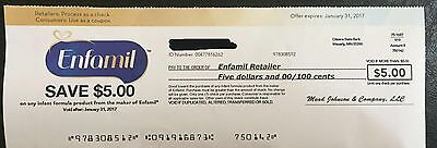 enfamil coupon 5$ Off. Expires January 31, 2017