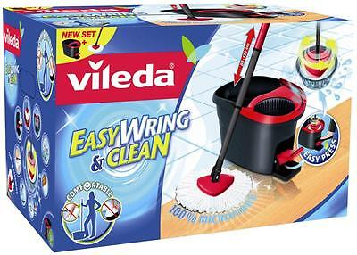 Vileda Easy Wring and Clean Turbo Microfibre Mop and Bucket - Foot Pedal Wring