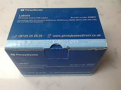 Genuine Pitney Bowes Double Sheet labels sv83019