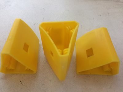 40 x Yellow Star Picket / Steel Y Fence Post Safety Cap - Triangular fits snug!