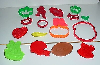 Lot Of 17 Plastic Cookie Cutters For All Occasions And Seasons
