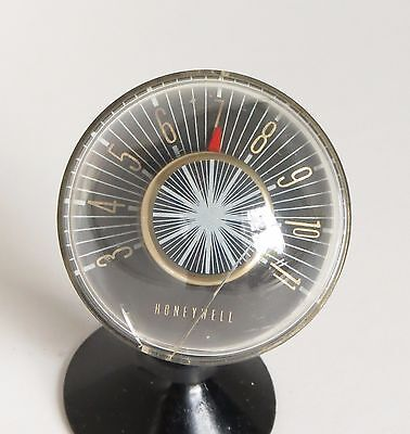 Vintage Honeywell Space Age Desk Thermometer Paper Weight