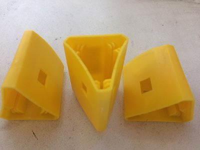 20 x Yellow Star Picket / Steel Y Fence Post Safety Cap - Triangular fits snug!