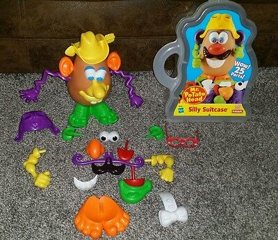 Mr Potato Head Lot Silly Suitcase #2279 1998 25 Parts