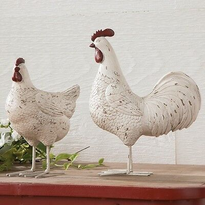 ROOSTER and HEN PAIR--Very Attractive Set--New From RAZ