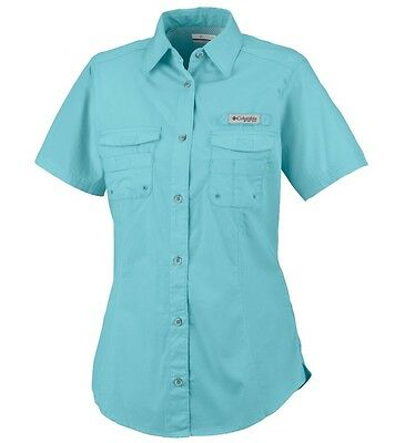 "New Columbia Womens PFG ""Bonehead"" Short Sleeve Fishing Shirt"