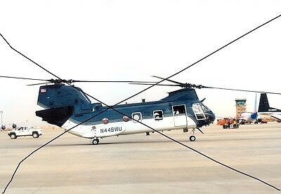 Civil Aircraft Photo, Photograph Of A Usa Boeing Vertol Helicopter Picture.