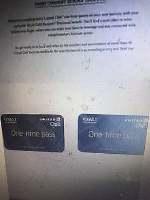 UA United Club Airline Lounge One-time Passes X 2 expire 06/30/2017