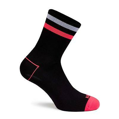 Rapha Brevet Cycling Socks Black /  Coral Size Large BNWT