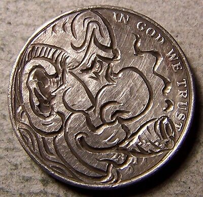 """Hobo Nickel, Engraved, Carved ,Scrimshaw,Coin Art ."""" PHILLY  BOY,...  """""""