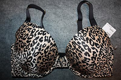 FREDERICKS OF HOLLYWOOD EXXTREME CLEAVAGE FULL FIGURE BRA Leopard