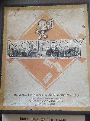 Vintage London Leeds Patent Monopoly Board  Game Collectable