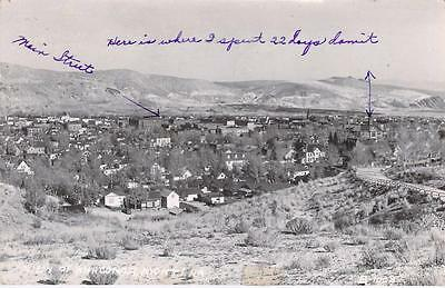 View of Anaconda Montana Used RPPC Postcard