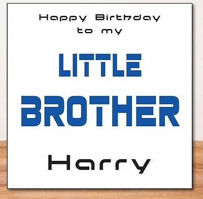 Little Brother Personalised Birthday Card