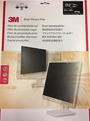 Brand New 3M Black Privacy Filter for (17 inch, Standard 5:4) PF17.0