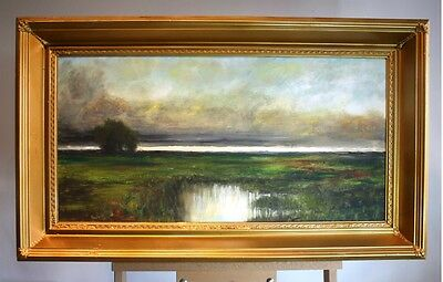 Oil Painting Landscape Large Gilt Gold Antique Frame Scottish Landscape Scene