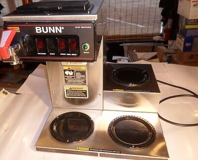 BUNN CWTF 15 Automatic Coffee Brewer 3 Lower Warmers, Hot Water Faucet 110volt