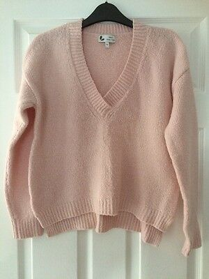 Next Ladies Pink Knitted Jumper Size 10