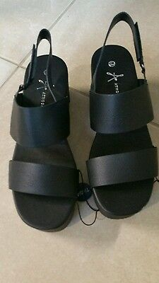 ladies black sandals size 7
