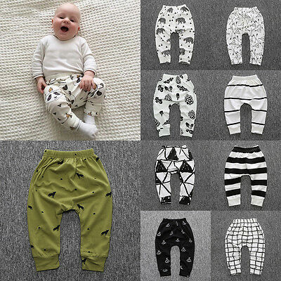 Infant Clothes Boy Girl Harem Long Jogger Pants Trousers PP Leggings Bottoms NEW