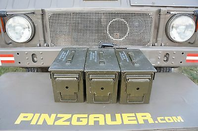 AMMO Can Box US ARMY Military  M2A1  Ammunition Metal Box  50 Cal  Pack of 3