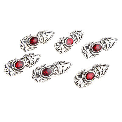 6pcs Vintage Jewelry Findings End Bead Cap Stopper Fit 8mm Leather Cord