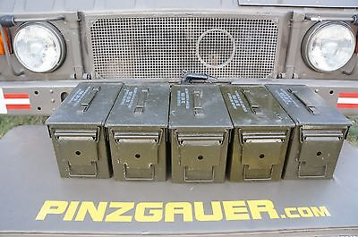 AMMO Can Box ARMY Military Surplus M2A1  Ammunition Metal Box  50 Cal  Pack of 5