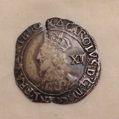 charles i shilling silver hammered coin metal detecting find 1st