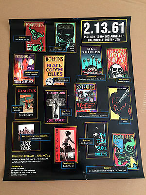 Henry Rollins 2.13.61 Book Publishing Original Usa Store Poster Nick Cave