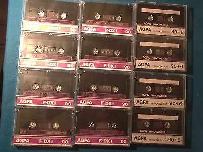 JOBLOT - 24 USED BLANK TAPE CASSETTES - MIXED BRANDS OF 21 x D90's & 3 x D120's