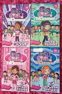 4 x The Go Girl Books Difference 1, 2, 3, 5