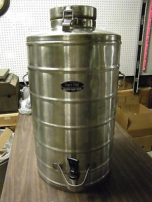 Super Chef Stainless Steel Mil-10 10 Gallon Beverage Container Survival (1T)
