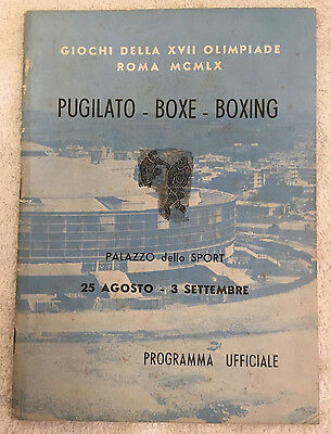1960 Rome Olympic Boxing Program!!! Cassius Clay!!! VERY RARE!!!