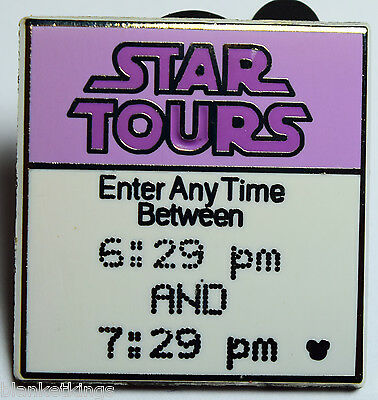 ☀️disney Trading Pin Fast Pass Fastpass Star Tours Enter Any Time Between