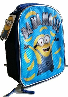 """Universal Despicable Me Lunch Box Lunchbox School Bag Tote """"Banana"""" Dave Minions"""