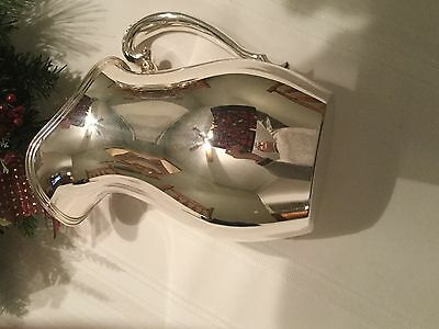 Crescent silver plated pitcher