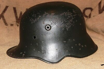 ww2 German Cavalry, Artillery- Ear Cut Out- very rare helmet, stamps ET64 paint