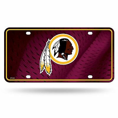 Washington Redskins License Plate Metal Car Auto Tag MTG Officially Licensed