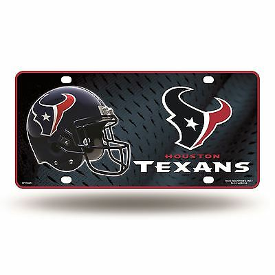 Houston Texans License Plate Metal Car Auto Tag MTG Officially Licensed