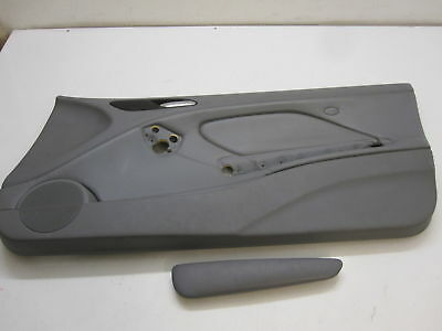BMW E46 Cabrio Coupe Door panel front right Leather grey Montana-grey