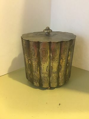 Silver Color Trinket Canister / Box